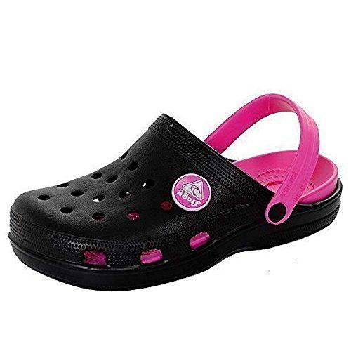 Flip de plástico Schwarz de de jardín zapatos Mujer de Plata Flop playa Rosa Riemen sandalias zuecos verano wP78qT