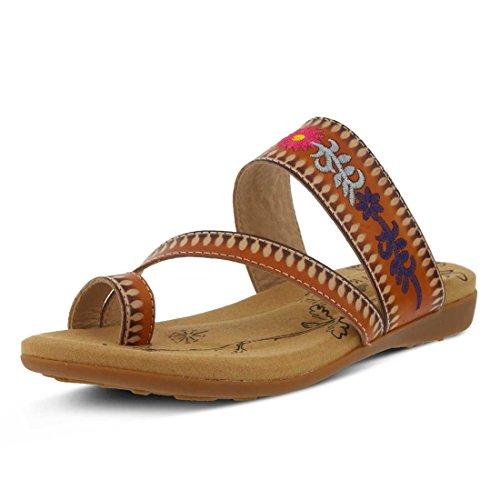 Akhila Loop Camel Spring Toe L'Artiste Step by Women's Sandal Leather 6WAxfqf7gw