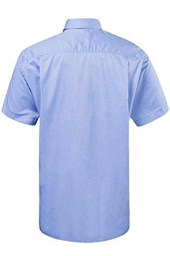 JP 1880 Herren große Größen bis 8XL | Halbarm-Hemd | blaues Shirt aus 100 % Baumwolle | Brusttasche & Kurzarm | Comfort Fit | hellblau 3XL 706864 72-3XL