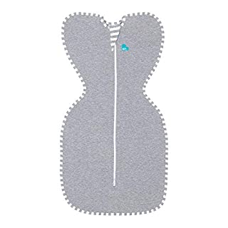 Love To Dream Swaddle UP, Gray, Medium, 13-18.5 lbs., Dramatically better sleep, Allow baby to sleep in their preferred arms up position for self-soothing, snug fit calms startle reflex