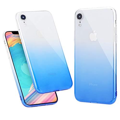 Generic iPhone XR Case 6.1 Inch, Ultra Thin Soft Silicone TPU Cover Tranparent Bumper Slim Fit Case Compatible iPhone XR (2018), Gradient Bule