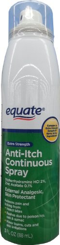 Equate Extra Strength Anti-Itch Continuous Spray, 3 fl oz