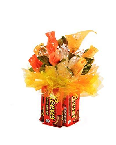 (Artfully Delicious Arrangements Edible Vase Candy Bouquet Gift Basket