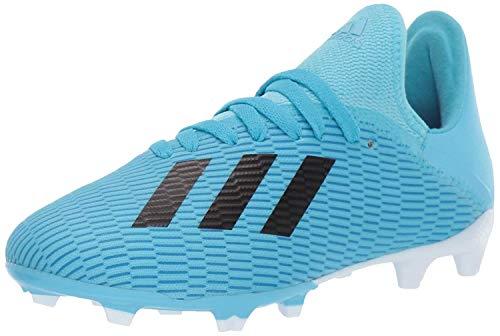 adidas Unisex-Kid's X 19.3 Firm Ground Soccer Shoe, Bright Cyan/Black/Shock Pink, 1.5 M US Little Kid
