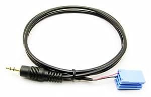 3.5mm jack de entrada AUX Cable adaptador iPod MP3 para VW 8 Pin