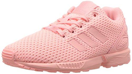 adidas Originals Girls' ZX Flux C Sneaker, Haze Coral Haze Coral Haze Coral S, 12.5 M US Little Kid Woven Haze Stripes