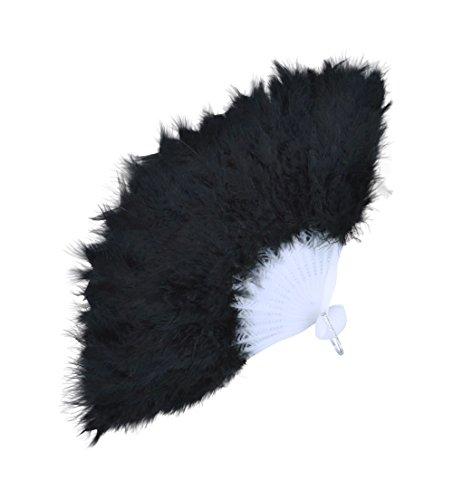 Feather Fan (Budget) Black