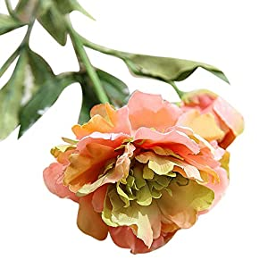Juesi Artificial Fake Peony Silk Flower Bridal Hydrangea Wedding Party Home Garden Decor, Pack of 1 26