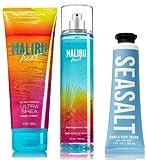 Cheap Bath and Body Works 3 Pack Malibu Heat Products. Ultra Shea Body Cream 8 Oz, Fine Fragrance Mist 8 Oz. & Sea Salt Hand Cream 1 Oz.