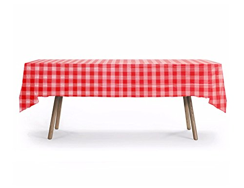 10 CT Rectangular Heavy Duty Table Cover, Ckecker