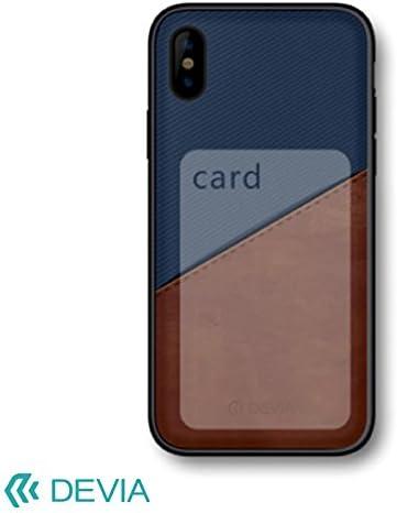 iPhone X 用 背面カードポケットがお洒落でかっこいいデザインケース/iWallet case Blue BXDVCS0010-BL