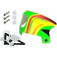 Microheli Adjustable Tilt Angle Camera Mount w/ Canopy Set (GREEN) - BLADE INDUCTRIX FPV