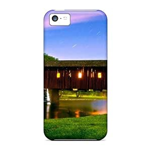 DlbtnQq8954twsRL Case Cover Protector For Iphone 5c Covered Bridge Under A Star Shower Case by lolosakes
