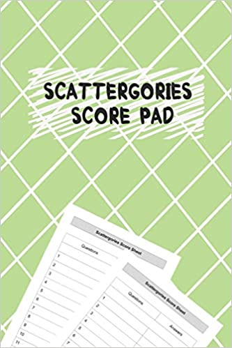 Buy Scattergories Score Pad My Scattergories Score Game Record Sheet Keeper Paper Pencil Party Game For 8 Years Old And Up Book Online At Low Prices In India Scattergories Score