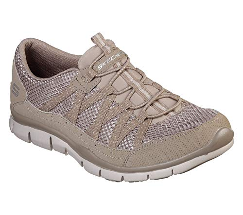 Skechers Gratis Strolling Womens Slip On Sneakers Taupe 10
