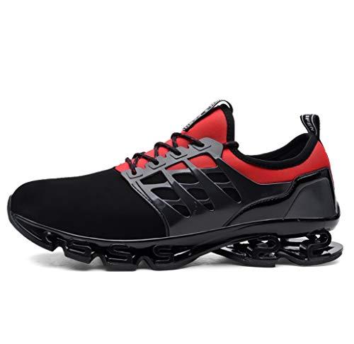 素敵なクリエイティブバウンドメンズウォーキングシューズ秋ハイ弾力性ダンピングブレードシリーズ屋外スニーカー通気性メッシュファッションランニング大規模なスポーツ靴(EU38-EU47)