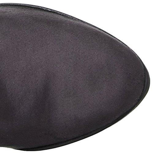 NR Rapisardi Women's D1403 Boots Grey (Asphalt Chamois 06cm-e/A) HnMlO
