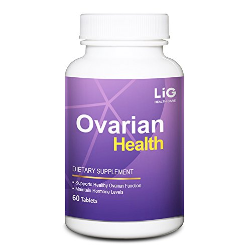 LIG Ovarian Health-Natural Supplement(60 Tablets)-for Ovarian Cysts and Pelvis Inflammmation-with Honeysuckle Flower