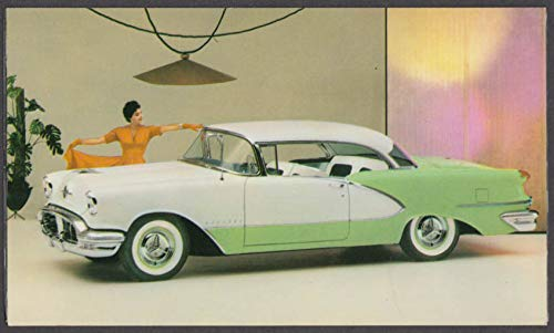 1956 Oldsmobile Ninety-Eight De Luxe Holiday Coupe dealer postcard