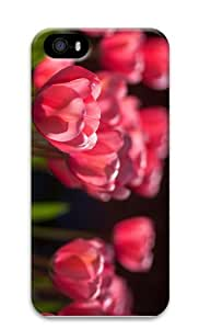 covers indestructible pink tulips nature PC Case for iphone 5/5S