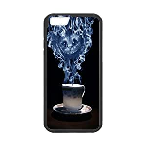 Cheshire Cat Would You Like Cup of Tea Case Cover For Ipod Touch 4 for BoyS Case Cover For Ipod Touch 4 Cheap [Black]