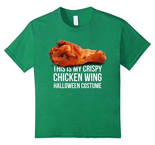 Kids Crispy Chicken Wing Shirt - Funny Halloween Tshirt 10 Kelly Green