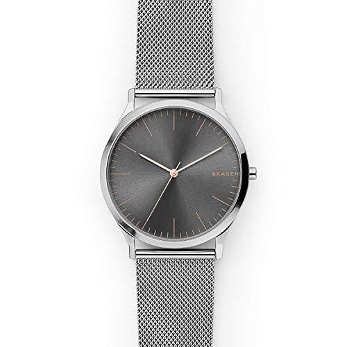 Skagen Men's Jorn Quartz Stainless Steel Mesh Casual Watch, Color: Silver-Tone (Model: SKW6368)