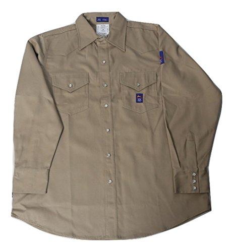 Men's KK Fire Retardant Khaki Shirt with Snaps (XL) - 7 oz.