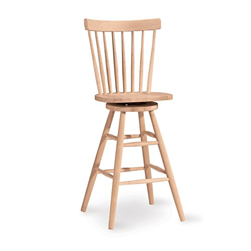 International Concepts 285-30 30-Inch Copenhagen Stool, Unfinished