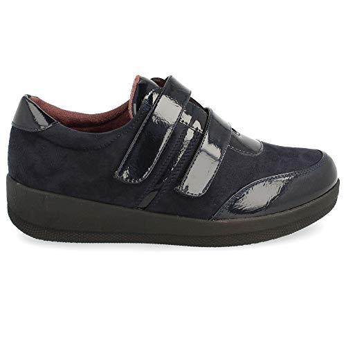 Velcro El En Cm Piel Sport Altura De Y Planta 4 Con Marino Empeine Zapato Estilo wCxqUYXI