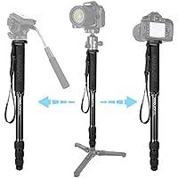 "Aluminum Monopod Alpenstock, Papaler MP308 4-section 64.5/164cm Photo Video Monopod for Cameras with 1/4""-3/8"" Convertible Screw for DSLR Camera Camcorder Ballhead Canon Nikon Sony"