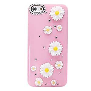 JJESunflower Pattern Metal Jewelry Back Case for iPhone 5/5S
