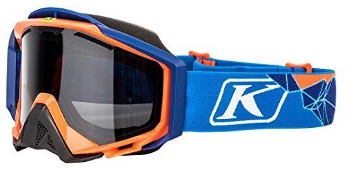 Klim Radius Pro Adult Snow Snowmobile Goggles Eyewear - Peak Blue / DBL Smoke Polarized / One Size