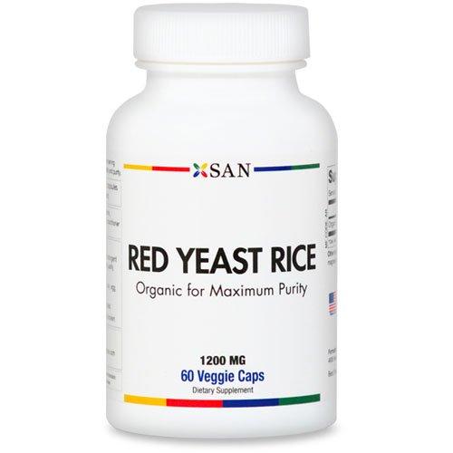 Levure de riz rouge Capsules de 1200 mg - Biologique. Gluten et soja gratuites | 60 Veggie Caps. Made in USA (1 pièce)