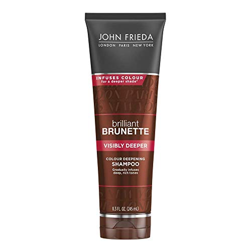 John Frieda Brilliant Brunette Visibly Deeper Colour Deepening Shampoo, 8.3 Ounce (Protecting Colour Conditioner)