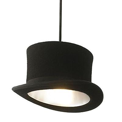 Éclairage Suspension, Nouveau et moderne suspension WOOSTER Tall chapeau noir lumière pendentif lampe de plafond accessoires pour restaurant bar salon chambre étude argent