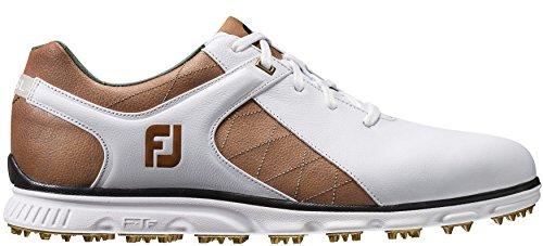 FootJoy Men's Pro SL White/Taupe/Gold 9.5 W US W