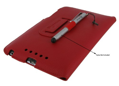 rooCASE Ultra-Slim (Red) Vegan Leather Folio Case for Google Nexus 7 Tablet (Built-in sleep / wake feature) Photo #6