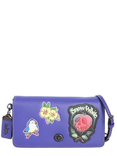 Hombro Cuero X Bolso Morado Coach De 32759bppur Mujer Disney pwTp84