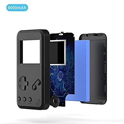 Mobile Power That can Play Games, One of The Smallest and Lightest 8000mAh External Batteries, Ultra-Compact, High-Speed Charging Technology Power Bank for iPhone, Samsung Galaxy and More.(Black): Toys & Games