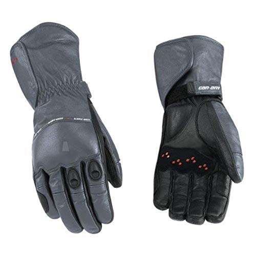 Can-Am Spyder Motorcycle New OEM Leather Riding Gloves Grey Long XL Extra Large - New Mens Motorcycle Gloves
