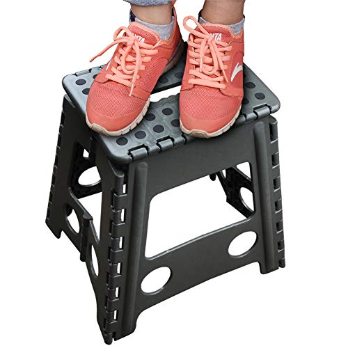 for Kitchen,Toilet,Camping ect. Folding Ladder Storage//Opens Easy Footstool for Adults or Kids Sturdy Safe Enough Army Green, XXL Usmascot Non-Slip Folding Step Stool Holds up to 350 Lb