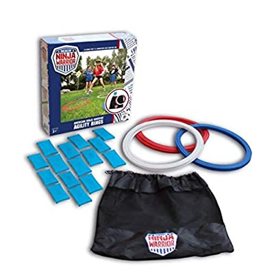 "American Ninja Warrior Agility Rings- 10- 14"" Rings with Dual use connectors and Storage Bag: Toys & Games [5Bkhe0500604]"