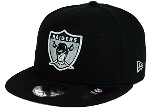 New Era Los Angeles Raiders 9Fifty Vintage Throwback 2 Tone Logo Adjustable Snapback Hat NFL Logo Two Tone Wool