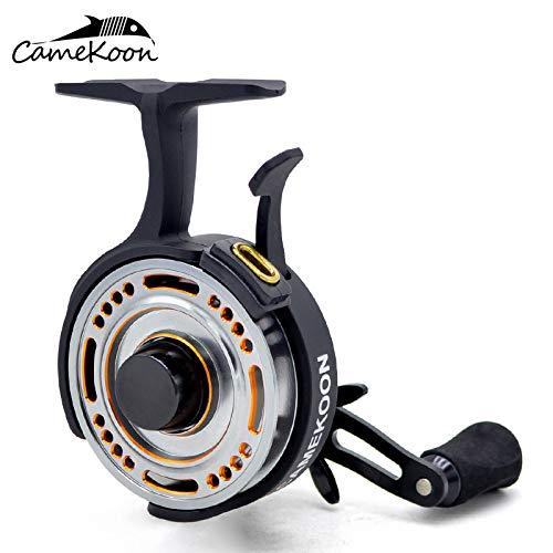 CAMEKOON FL501L Inline Ice Fishing Reel Ceramic Line Guide Freefall 2.5:1 Gear Ratio Left Hand Retrieve