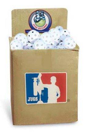 JUGS Bulldog White Poly Baseballs - bulk box of 100 by Jugs