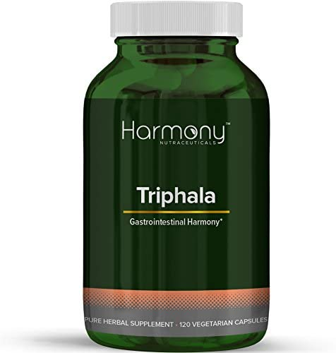 Harmony Nutraceuticals Triphala Capsules – Triphala Herbal Formula for Natural Digestive Support, Fighting Body Infections, Improving Blood Circulation. Digestive Supplements
