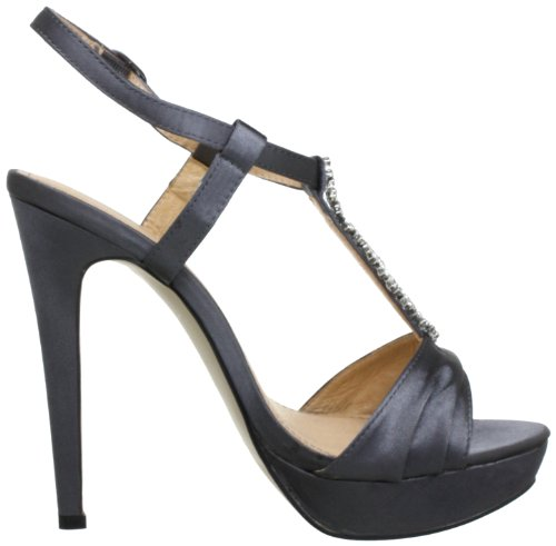 CAFèNOIR NN005 - Sandalias de satén para mujer Gris (Grau (016 GRIGIO 016 GRIGIO))