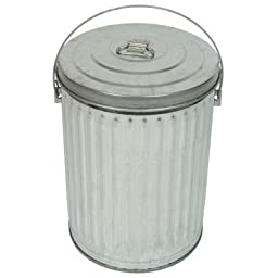 Medium Duty Galvanized 10-Gal Economy Can and Lid