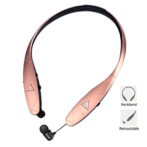 Bluetooth Retractable headphones,Neckband Earbuds Wireless Bluetooth Headset Hand-free Sports In-Ear Noise Cancelling Earphone for Samsung, iPhone 8/X/plus and Other Bluetooth (Ultra Small Bluetooth Wireless Headset)